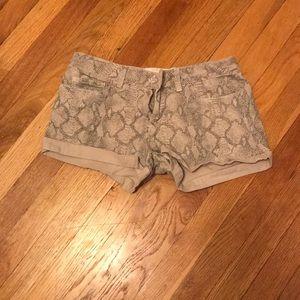 Snake skin shorts
